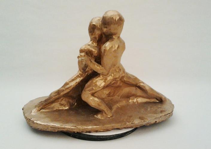 Guseppe Canali Ballerini di Tango Ceramica dorata