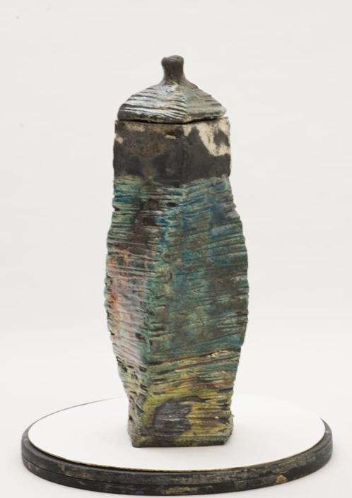Giuseppe Canali Bottiglia Twist Ceramica Raku