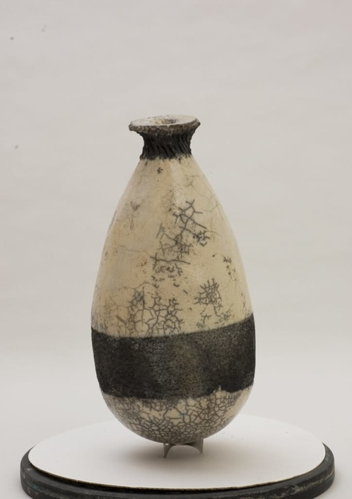 Giuseppe Canali Bottiglia Vescica Ceramica Raku