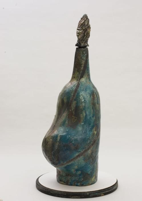 Giuseppe Canali Bottiglione con Pancia Ceramica Raku