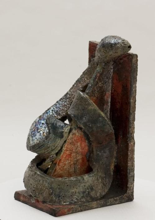 Giuseppe Canali Reggilibri Ceramica Raku